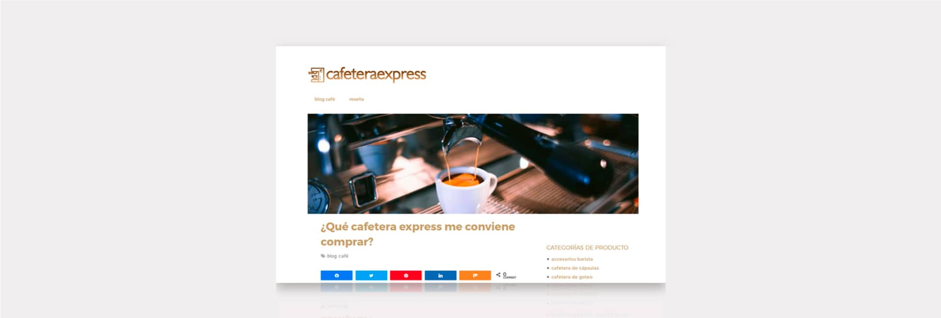 Cafetera Express Club Blog Ecommerce