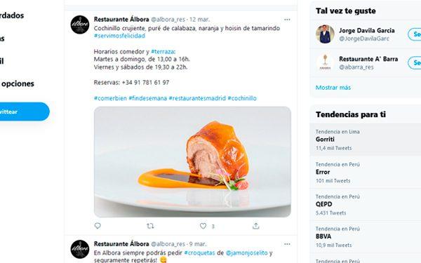 tweets restaurante